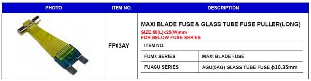 Maxi Blade Fuse & Glass Tube Fuse Puller (Long) 1
